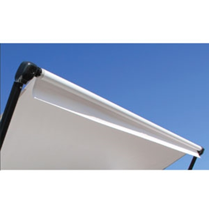 Picture of Lippert Solera 10' w/ 8' Ext Solid Black Vinyl Solera Patio Awning V000211447 00-0343