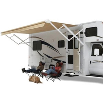 Picture of Carefree  18' w/ 8' Ext W/W Ocean Blue Dune Stripe Vinyl Eclipse/Travel'r/Pioneer Patio Awning QJ188E00 00-1193