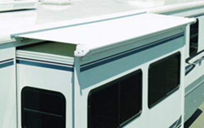"Picture of Carefree SOK III 11' 9"" White Denim SOK III Slide Out Awning w/ White Deflector w/ Cover UP1410025 00-7341"