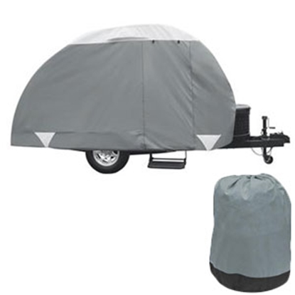 Picture of Classic Accessories PolyPRO (TM) 3 Tab & Clam Shell Teardrop Tailer Cover 80-298-163101-RT 01-0089