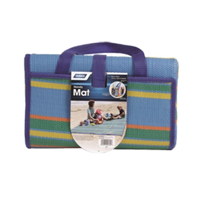 Picture of Camco Handy Mat 5' x 6-1/2' Blue/Green Camping Mat 42805 01-0102