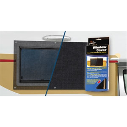Picture of Carefree  Solid Black Vinyl Window Cover 902001BLK 01-0881