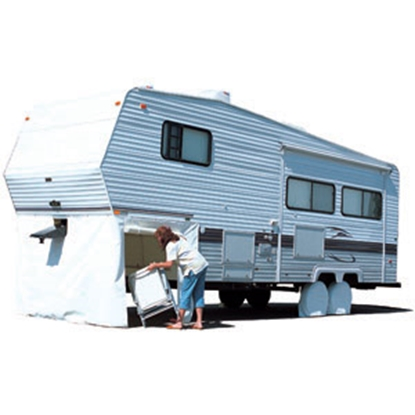 "Picture of ADCO  Polar White 64""H x 296""W 5th Wheel Skirt 3503 01-1027"