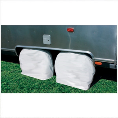 "Picture of Camco  1-Pair Colonial White 30""-32"" Tire Covers 45333 01-1386"