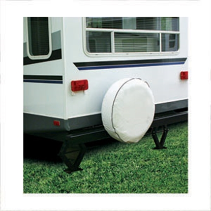 "Picture of Camco  Colonial White 28"" Spare Tire Cover 45355 01-1388"