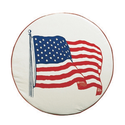 "Picture of ADCO  34"" Size A Flag Spare Tire Cover 1781 01-1844"