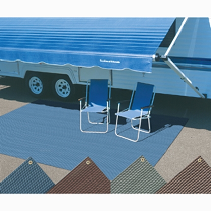 Picture of Carefree Dura-Mat (TM) 8' x 8' Blue Camping Mat 180873 01-2507
