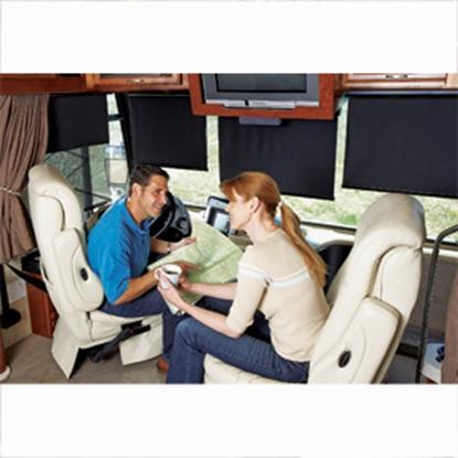 """Picture of Carefree Power SmartVisor (TM) 54"""" Power Smartvisor w/ LH Motor Windshield Shade YS054QA36L-RP 01-2907"""