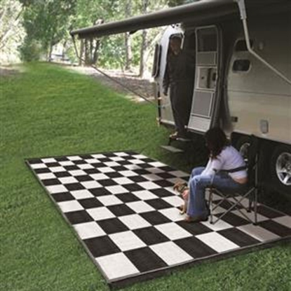 Picture of Camco  6' x 9' Black/White Reversible Camping Mat 42884 01-2946