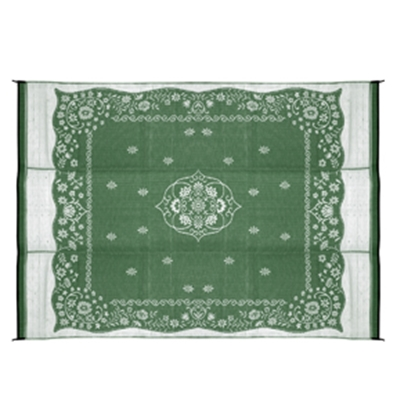 Picture of Camco  9' x 12' Green Oriental Reversible Camping Mat 42850 01-2960