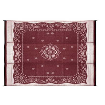Picture of Camco  9' x 12' Burgundy Oriental Reversible Camping Mat 42852 01-2962