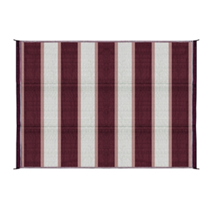 Picture of Camco  6' x 9' Burgundy Reversible Camping Mat 42872 01-2972