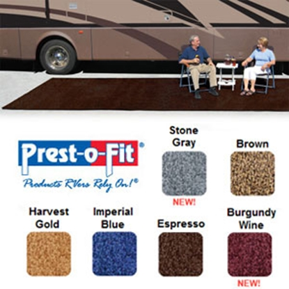 Picture of Prest-o-Fit Patio Rug 6' x 9' Espresso Camping Mat 2-1080 01-3002
