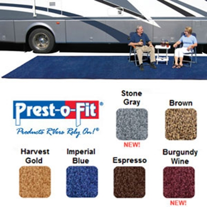 Picture of Prest-o-Fit Patio Rug 6' x 9' Imperial Blue Camping Mat 2-1081 01-3003