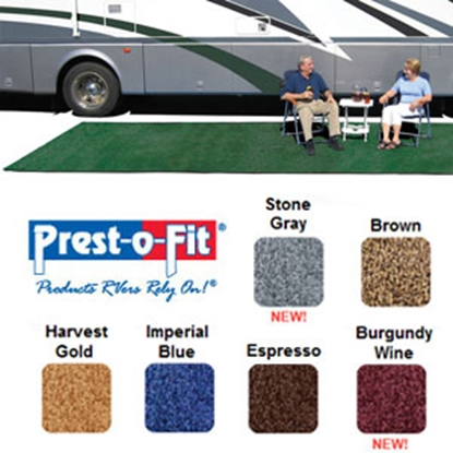 Picture of Prest-o-Fit Patio Rug 8' x 20' Green Camping Mat 2-0170 01-3080