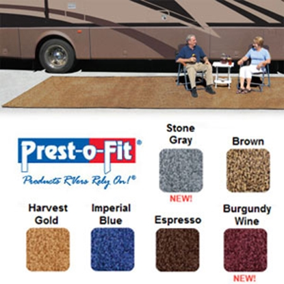 Picture of Prest-o-Fit Patio Rug 8' x 20' Harvest Gold Camping Mat 2-0179 01-3081