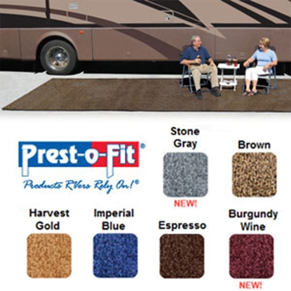 Picture of Prest-o-Fit Patio Rug 8' x 20' Brown Camping Mat 2-0171 01-3082