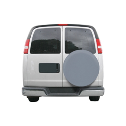 "Picture of Classic Accessories  Gray 24"" to 25"" Diam Spare Tire Cover 80-089-151001-00 01-3811"