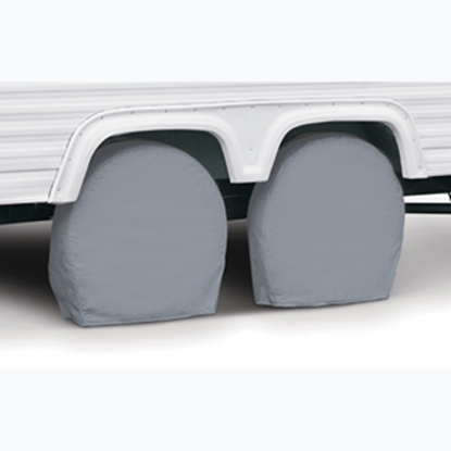"Picture of Classic Accessories  2-Pack Gray 19"" to 22"" Diam Single Tire Cover 80-098-301001-00 01-3830"
