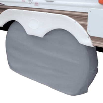 "Picture of Classic Accessories  1-Pack Gray Up to 27"" Diam Double Tire Cover 80-107-021001-00 01-3850"