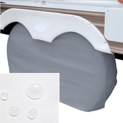 "Picture of Classic Accessories  1-Pack White Up to 27"" Diam Double Tire Cover 80-109-022801-00 01-3852"