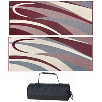 Picture of Ming's Mark  8' x 20' Burgundy/Black Reversible Camping Mat GC5 01-4135