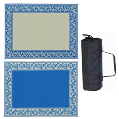 Picture of Ming's Mark  8' x 20' Blue/Beige Reversible Camping Mat RC3 01-4197