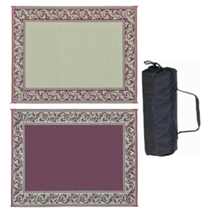 Picture of Ming's Mark  9' x 12' Burgundy/Beige Reversible Camping Mat RA5 01-4202
