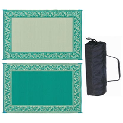 Picture of Ming's Mark  6' x 9' Green/Beige Reversible Camping Mat RD4 01-4210
