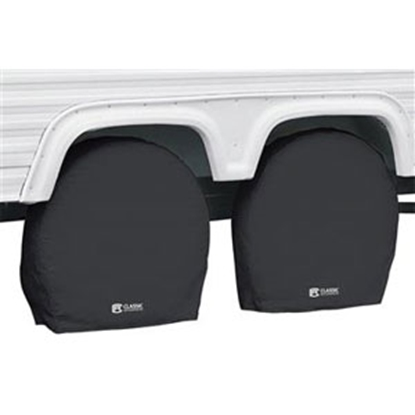 "Picture of Classic Accessories  1-Pack Black 24"" to 26-1/2"" Diam Single Tire Cover 80-236-140402-00 01-7308"