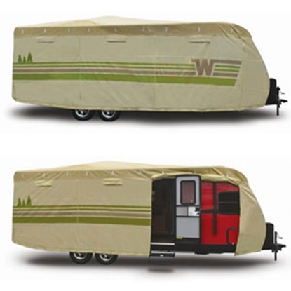 "Picture of ADCO Winnebago (TM) Tan Poly 22' 1"" To 24' Travel Trailers Winnebago (TM) Cover 64842 01-8652"