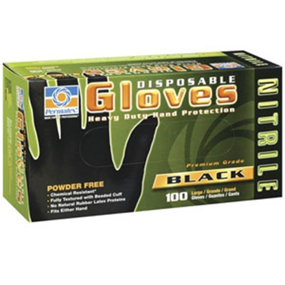 Picture of Permatex  Extra Large Black Nitrile Disposable Gloves 08186 02-0001