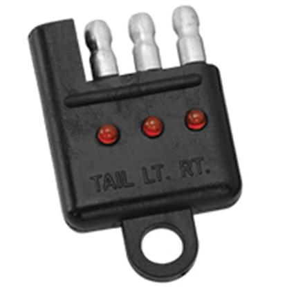 Picture of Pollak  4-Way Flat LED Trailer Wiring Circuit Tester 12410EV 02-0036