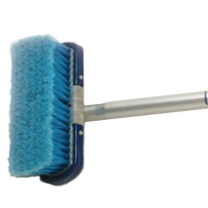 "Picture of Adjust-a-Brush  4' Non Flo-Thru Telescopic Handle w/ 8"" Medium Brush PROD606 02-0111"
