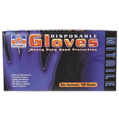 Picture of Permatex  Extra Large Blue Nitrile Disposable Gloves 09186 02-1441