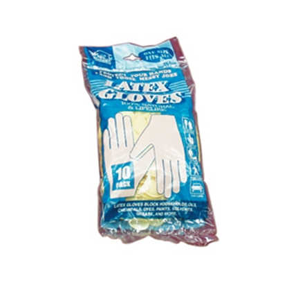 Picture of Howard Berger My Helper (R) 10-Pack One-Size Latex Disposable Gloves 112890 02-1450