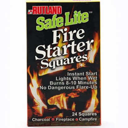 Picture of Rutland Products Safe Lite (R) Box of 24 Fire Starter Squares 50C 03-0066