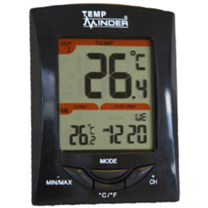 Picture of Minder TempMinder (R) Digital Wall/ Desk Mount Thermometer w/ Remote Sensor MRI-200HI 03-0173
