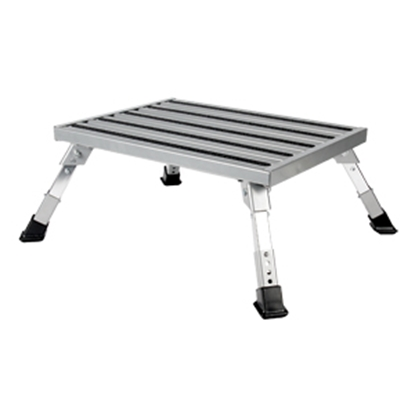 "Picture of Camco  7 to 8-1/2""H Adjustable Aluminum Folding Step Stool 43676 03-0223"