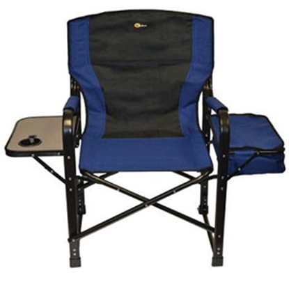 Picture of Faulkner  Blue/Black El Capitan Director's Chair w/ Side Tray & Cooler Bag 49581 03-0318