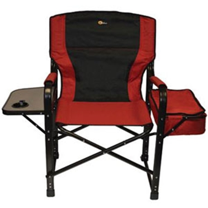 Picture of Faulkner  Burgundy/Black El Capitan Director's Chair w/ Side Tray & Cooler Bag 49582 03-0325