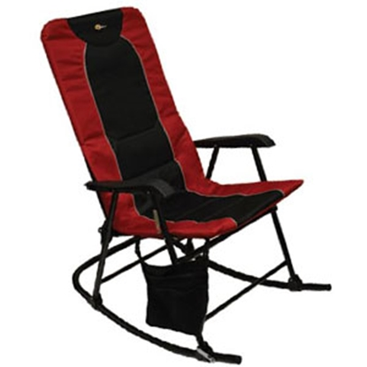 Picture of Faulkner  Burgandy/Black Dakota Folding Rocking Chair 49596 03-0331