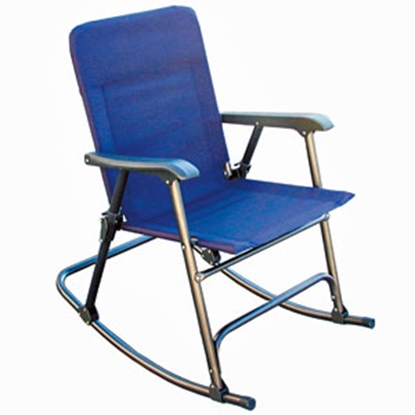 Picture of Prime Products Elite(TM) California Blue Folding Rocker Chair 13-6501 03-0394