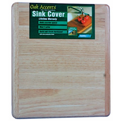 "Picture of Camco Oak Accents (TM) 13""x15"" Oak Hardwood Sink Cover 43431 03-0448"