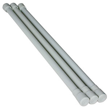 Picture of Camco  3-Pack White Single Cupboard Bars 44053 03-0456