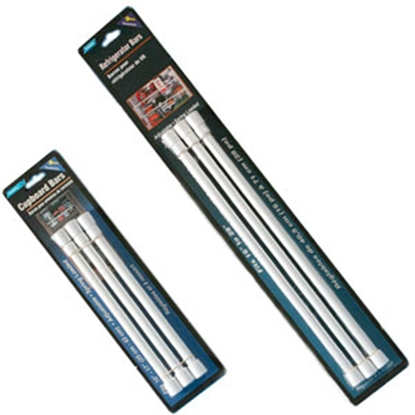 Picture of Camco  3-Pack White Single Cupboard Bars 44063 03-0460