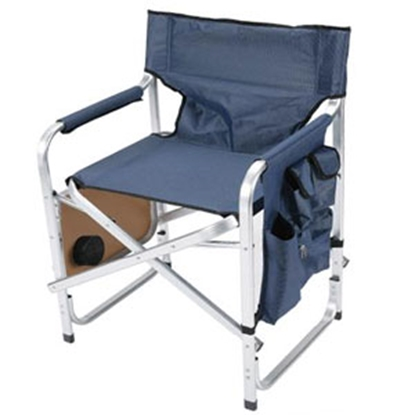 Picture of Faulkner  Blue Director's Chair w/ Side Tray & Pocket Pouch 48872 03-0480