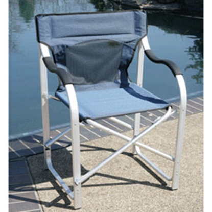 Picture of Faulkner  Blue Aluminum Director's Chair 43947 03-0488