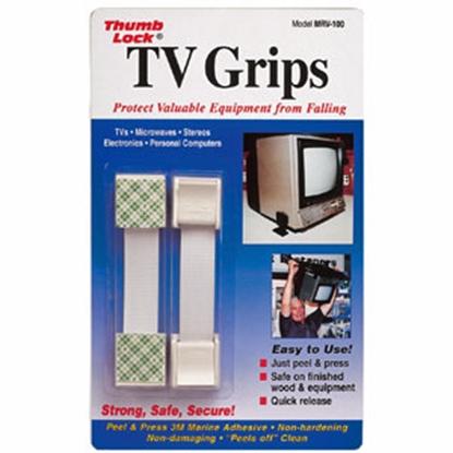 Picture of Thumb Lock TV Grips (TM) White TV Grip Kit MRV-100WT 03-0557