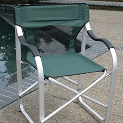Picture of Faulkner  Green Aluminum Director's Chair 43946 03-0622